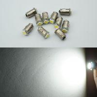 12v armaturenbrett lampe großhandel-BA7S Diode 7mm RUND 1 LED SMD 12V t2 LED Auto Lampen Instrument Licht innen Bajonett Base DASHBOARD Lampen 100pcs