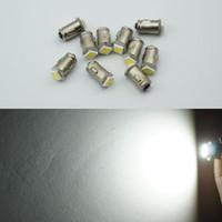 ingrosso lampada del cruscotto 12v-Diodo BA7S 7mm ROUND 1 LED SMD 12V t2 led auto lampadine luce strumento interno lampade a baionetta Base luce di bordo 100 pz