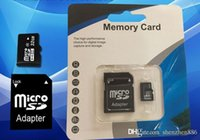 Wholesale Gb Sd Memory Cards - 16GB Micro SD TF Memory Card Class 10 With Adapter 8 gb Class 10 TF Memory Cards with Free SD Adapter Retail Package DHL EMS UPS
