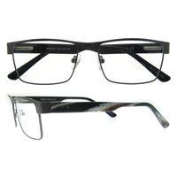 Wholesale Eyeglasses Temples - no MOQ new full rim retangle metal frame acetate temple spring hinge clear lens eyeglasses frame