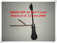 Wholesale Magic Key Lock - NEW PRODUCT MAGIC KEY 16 for Mul-T-Lock Matrix 6+6- 11 mm (NM) master key decoder locksmith tools