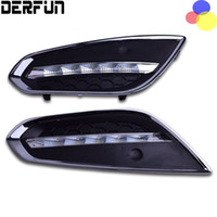 Wholesale Volvo Drl - For Volvo S60 V60 2011 2012 2013 Waterproof ABS Cover LED Daytime Running Light LED DRL Lamp With Auto Light-Off Function