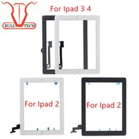 Wholesale Ipad2 Touch Screen - For iPad 2 3 4 Screen Digitizer Glass Touch Panel Replacement Repair Parts Assembly With Home Button Adhesive Sticker for ipad2 3 4