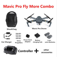 Wholesale dji gps - DJI Mavic Pro Fly Folding FPV Drone With 4K HD Camera OcuSync Live View GPS GLONASS System RC Quadcopter