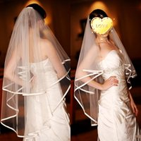 Wholesale Cheap Wedding Headwear - Cheap White Headwear Elbow Length Wone layer Bridal Veils Tulle Wedding Veil Custom Bridal Veils Fast Delivery (Bridal Accessories