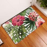Wholesale Oval Carpets - 8 designs tropical carpet for bathroom kitchen living room rainforest entrance doormat jungle toucan parrot peacock flamingo rug