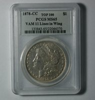 Wholesale Antique Ship Lights - Wholesale Hot Selling PCGS 1878-CC MS65 Morgan One Dollar Coin  FREE SHIPPING