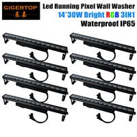 Wholesale Led Long Spotlights - Freeshipping 8 Pack 450W LED Spotlight Flood light Outdoor Wall Washer Landscape Garden Lamp 14x30W RGB 3IN1 Long Bar Stage Wash