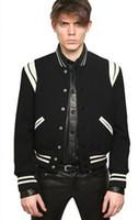 Wholesale Letterman Baseball - Wholesale- 2017 Fashion High Quality Star Looks Fashion Mens Letterman Jackets For Men Hip Hop Hoodies Baseball Varsity Jacket