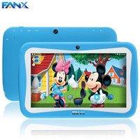 Wholesale Tablet Toy Portuguese - Wholesale- New Arrival Kids Cartoon Toy Tablet PC Pre-installed Educational Apps & 7 inch Android Cam Wifi + Silicon Case Free Shipping