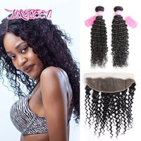 Wholesale Wholesale Online Selling - Human hair Brazilian virgin hair weaves closures 13X4 lace frontal closure with 2 bundles Unprocessed Hot selling online