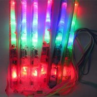 Wholesale Cheer Accessories Wholesale - Hot LED Light Sticks LED Flashing Light Colorful Sticks Glow Stick Halloween Party Accessory Christmas Toy Flashing Concerts LED Cheer Props