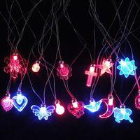 mariposas electrónicas al por mayor-Moda Luminosa Collar Amor Mariposa Cruz Flor Forma Colgante Electronic Party Decor LED Light Up Collares Juguete 0 88jl B