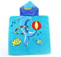 Wholesale Baby Home Portable - Free shipping 2 colors Microfiber Bath Towel Children's Animal Cloak Blanket Household Towel babies shawls of 50*100cm
