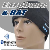 apfelhüte großhandel-Bluetooth-Hut-Winter-Kappen-drahtloser Bluetooth Kopfhörer-Kopfhörer-Kopfhörer weich warm mit Stereolautsprecher freihändig