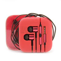 Wholesale Headphone Pack - HIFI Headphone 3.5mm Metal Bass Earphone With Mic Noise Cancelling Headset For Xiaomi Smartphone Headsets with retail pack
