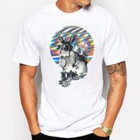 Campeggio Escursionismo T-Shirt Estate T-Shirt Uomo Cool xanime Cartoon Stampa animale T Shirt Bianco hip hop divertente Casual Tshirt maglietta homme