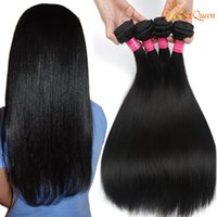 Wholesale 4pcs Weave - 8A Peruvian Straight Virgin Hiar 4PCS LOT 100% Unprocessed Peruvian Human Hair Weaves Peruvian Virgin Hair Straight Dyeable Gaga Queen Hair