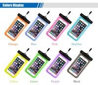 iphone schwimmen fall großhandel-Wasserdichte Tasche Unterwassertasche PVC Universal Dry Case Cover für iPhone Handy Touchscreen Tauchen Schwimmen