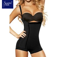 Wholesale Open Butt - Wholesale- Women Latex Underbust Zipper & Hook Body Shaper Tummy Control Butt Lifter Shaper Open Crotch Push Up Underwear Shaper