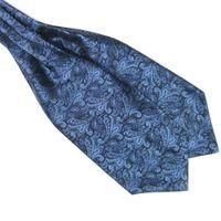 Wholesale Cravat Ascot Necktie Neck Ties - Gentlemen Neckties Men's Paisley Gentlemen Silk Cravat Ascot Ties Handkerchief