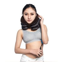 Wholesale Inflatable Cervical Device - Inflatable Pillow Neck Back Shoulder Pain Relief Massager Cervical Traction Neck Cervical Traction Device Neck Care Massage OOA2137