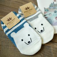 Wholesale One Polar - Wholesale- New Ladies Cotton Socks Polar Bear Straight One Pair Ship Socks