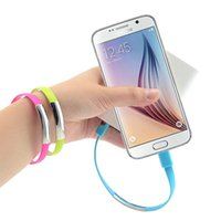 Wholesale Micro Usb Charging Bracelet - USB cable Portable wrist Bracelet wristband sync charging Micro USB cable Data charger cord For samsung S4 S6 edge cell phones