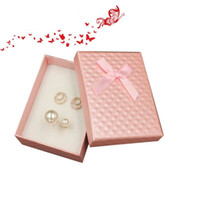 Wholesale Paper Watch Gift Box - 7*9*2.8cm Kraft Paper Jewelry Box For Ring Necklace Earring Packing Watch Package Gift Box With Ribbon Decor ZA3870
