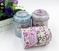 contenedores de cafe de te al por mayor-Mini Portable Candy Coffee Tea Storage Caja de la lata Caja de cigarrillos Container Jar Canister Express Envío gratuito