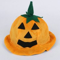 Wholesale smile clothes for sale - Group buy Cartoon Pumpkin Cap For Halloween Show Clothing Party Hat Orange Steeple Smiling Face Bent Eyes Hats Durable cq B R