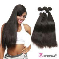 Wholesale Cheap Good Remy Hair - Good Quality Brazilian Virgin Hair Bundles Remy Cheap Straight Human Hair Bundles 4pcs Straight Hair Weave No Shedding