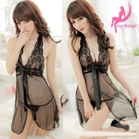 5 цветов Sexy Lace Nightie See Through Lingerie G-string Thong Sleepwear One Size