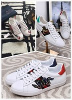 Wholesale Top Cock - Top Quality The New High-End Custom Luxury Leather Fashionable Casual Shoes Leisure Comfort Breathable Flowers & Cock & Snake Sports Shoes