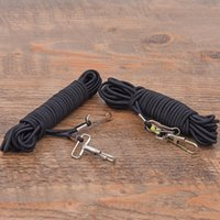 Atacado - 2pcs 5m Fish Missed Rope Fish Pole Rod Protector Elastic Rubber Rope Line Fishing Tackle Tool