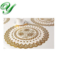 PC square cupcake liners - gold round lace doilies crafts sizes christmas cupcake liners square rectangular table mat placemat coaster party decoration