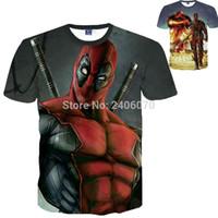 Wholesale T Shirt Teen Boy - deadpool superhero teenagers boys clothes summer t-shirt 3D shirt American Comic Badass brand spiderman Costumes For teens