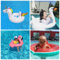Wholesale Life Float Ring - Baby Inflatable Pool Float Flamingo Swan Watermelon Unicorn Pegasus Water Swimming Swim Ring Pool Toy Kids Life Ring 4 Styles 100pcs OOA2094