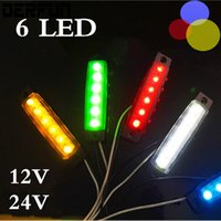 Marqueur Led 12v Pas Cher-6 LED / pcs SMD LED Car Bus Truck Trailer Lorry Side Marker 12V 24V Car Trailer Accessories Van Signals Led 5 Color Choisissez