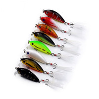 Wholesale big fishing soft lure for sale - Baits Lures Feathered Bionic Bait Brightly Colored Attract Big Fish Attention Make A Noise Trall Eight Colors Bionic Eye hr J1