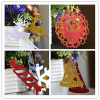 Wholesale Candle Making Free Shipping - Twinkling christmas tree paper decorations laser cutting custom made patterns christmas bell reindeer hat candles free shipping