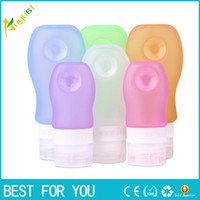 Wholesale Press Pads - One set 89ml +60ml +37ml Silicone Makeup Brush Washing Refillable Bottle Better Than Silica Brush Pad  Egg Press Travel Bottle for Lotion