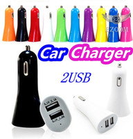 Wholesale Chinese Nipples - Colorful Universal Mini Car Charger 2 Ports Cigarette Dual Port 2.1A Micro Auto Power Adapter Nipple Dual USB For Phone 7 plus Samsung s7