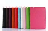 carteras de leechee al por mayor-Leechee PU billetera de cuero litchi caja del soporte para la nueva ipad pro 10.5 pulgadas titular de la tableta cubierta de la piel de lujo colorido 30pcs