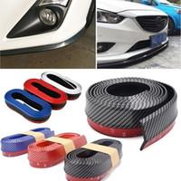 Wholesale Front Bumper Spoiler Lip - Car PVC Carbon Fiber Front Bumper Lip Splitter Chin Spoiler Trim Protector (Size: 250 x 5.5cm)