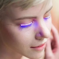 Wholesale Nightclub Accessories - Chic LED Eyelashes Fashion Glowing Eyelashes for Dance Concert Christmas Halloween Nightclub Party supplies free shipping ouc2081