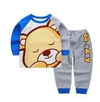 Wholesale Underwear 24 - Clothing Sets Baby Kids Clothing cartoon animal set Newborn baby clothes Spring and Autumn baby cartoon darling bear underwear suit