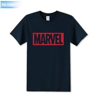 Wholesale Marvel Dresses - 2017 New Marvel Printed T Shirt Men's Tops Tees Top Quality Cotton Casual Men Tshirt Marvel T-Shirts Man Knitted Dress Plus Size