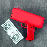 Wholesale plastic cannons - 2017 Cash Cannon Money Gun Decompression Fashion Toy Make It Rain Money Gun With Battery Christmas Gift Toys