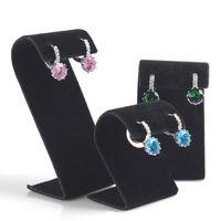 Wholesale Wooden Stud Earrings Wholesale - New 1 Set 3 Pcs Earring Stand Ring Holder Ear Stud Display Earring Pendants Jewelry Organizer Shelf Decoration Showcase